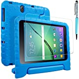 "Galaxy Tab S3 9.7 Case with Screen Protector and Stylus, AFUNTA Convertible Handle Stand EVA Case, PET Protective Film Cover and Touch Pen for Samsung Galaxy Tab S3 9.7"" 2017 Tablet SM-T820 / T825 - Blue"
