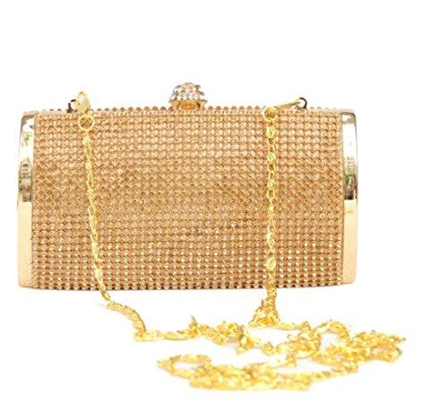 D'honneur Soir Du Sac Cadeau Strass Gold à Demoiselle Coffret Main Pochette Mariée Mode AHYSwOEnq