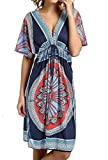 #2: CHERRY CAT Womens V-Neck Cut Loose Bathing Suit Swimsuit Cover Ups Beach Dress (US 6-14)