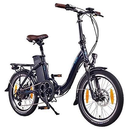 250W Bater/ía 36V 15Ah /• 540Wh Azul NCM Paris Bicicleta el/éctrica Plegable