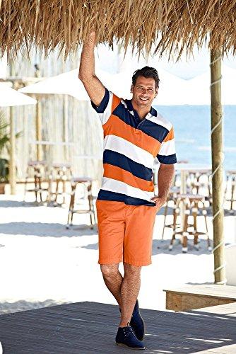 JP 1880 Herren Halbarm-Poloshirt, 69040265, orange, XXL