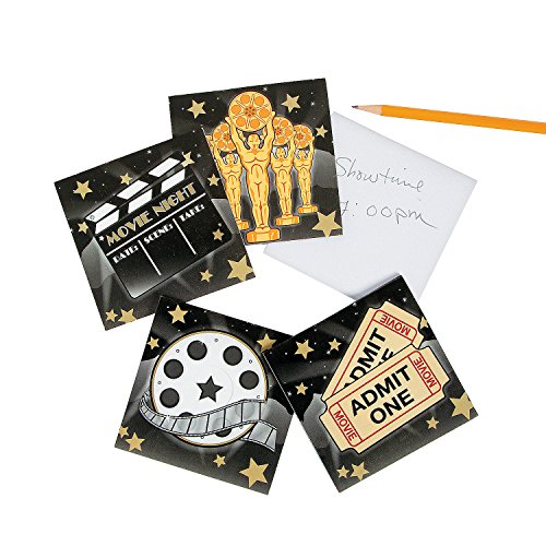 Fun Express Movie Night Paper Notepads | 24 Count | Great for Birthday Parties, Hollywood/Oscars Theme