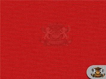 Amazon.com: Waterproof Canvas Solid RED Indoor Outdoor Fabric / 60 ...