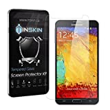 Inskin Ultra Slim 0.3mm HD Tempered Glass Screen Protector kit for Samsung® Galaxy Note 3 (Note III). Polished edges. Oleophobic coating. 9H Hardness. Inskin Retail Packaging.