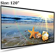 """Projector Screen, Auledio Portable Outdoor Movie Screen 120"""" 16:9 Home Cinema Theater Projection Screen"""