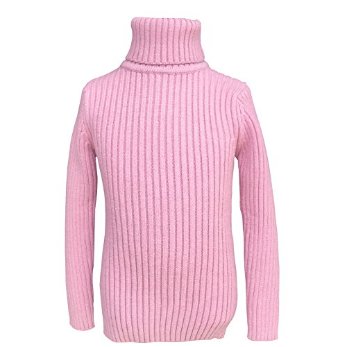 - Y·J Back home Turtleneck Tops,Pink Baby Turtleneck Sweater Basic Junior Top Shirt for Boys and Girls,Solid Pullover,Long Sleeve,3/4T