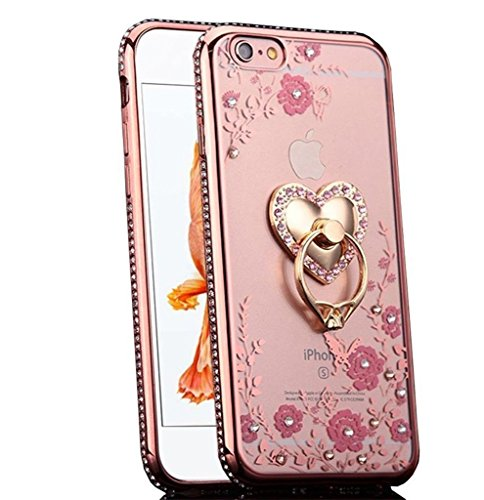 iPhone CaseUp Glitter Crystal Floral