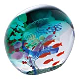 Caithness Glass Ocean Shoal Paperweight by Caithness Glass
