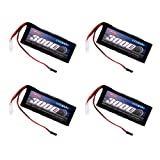 Venom 6V 3000Mah 5-Cell Large Scale Receiver NiMH Battery (4-Pack)