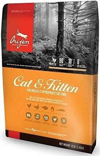 Orijen Dry Cat and Kitten Food, 12 Pound Bag