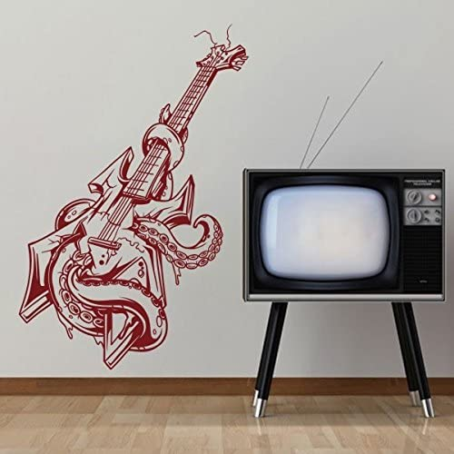 WallsUp Moda Bass Guitarra Decor Pulpo Vinilo Pared Arte Pop ...