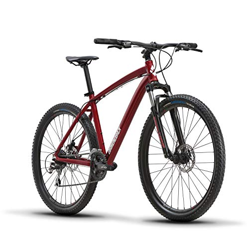 "Diamondback Bicycles Overdrive Hardtail Mountain Bike with 27.5"" Wheels, 18""/Medium, Red"