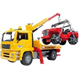 Bruder Man Tga Tow Truck With Cross Country Vehicle