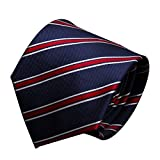URSFUR Classic Stripe Neck Ties Fashion Accessories Standard Length Men's Tie Textured Multi-colored Men's Necktie
