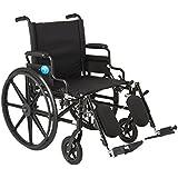 Medline K4 Extra-Wide Lightweight Elevating Wheelchair, RDLA, 22 Inch