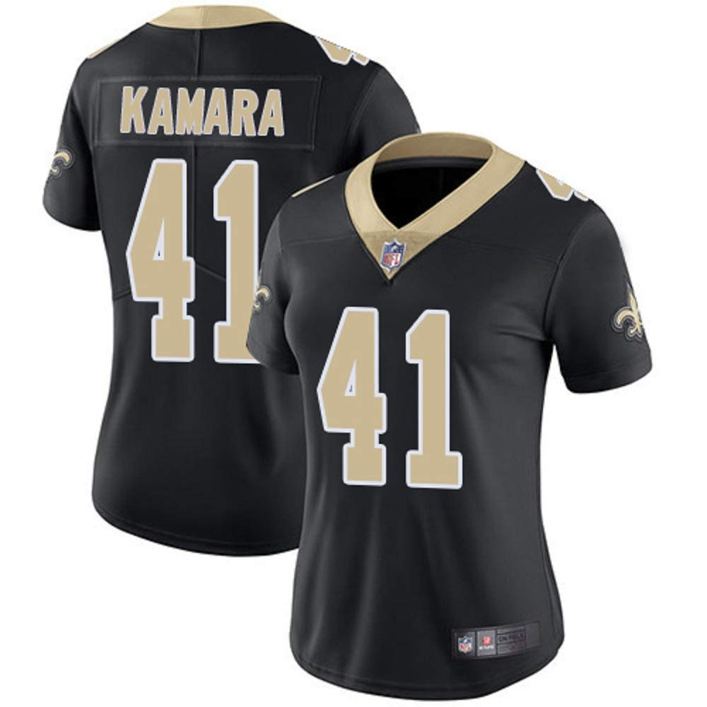 hot sale online e2980 a6d3f Majestic Athletic New Orleans Saints #41 Women's Alvin Kamara Black Limited  Jersey