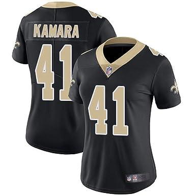 3790db991 Majestic Athletic New Orleans Saints  41 Women s Alvin Kamara Black Limited  Jersey ...