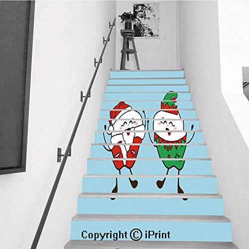 (baihemiya stickers Removable Art Staircase Decals for Stairway or Home Decoration,7.1