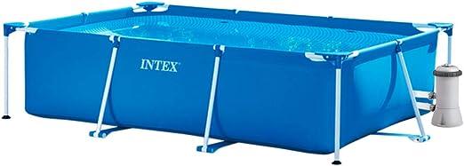 INTEX Pack Piscina Small Frame 260x160x65 cm 2282 litros + ...