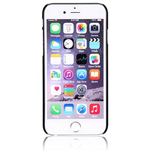 """JewelryWe Warme kühle Giraffenfamilie Harte Handy Case Schutzhülle Tasche Hülle Rückenschutzhülle für Apple iPhone 6(4,7""""), Schwarz Grau"""