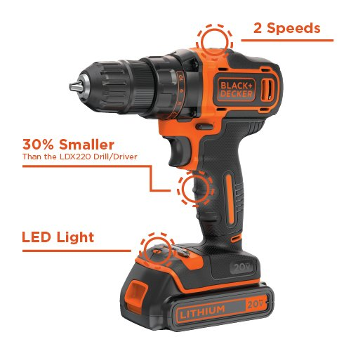Buy black and decker 20v lithium drill