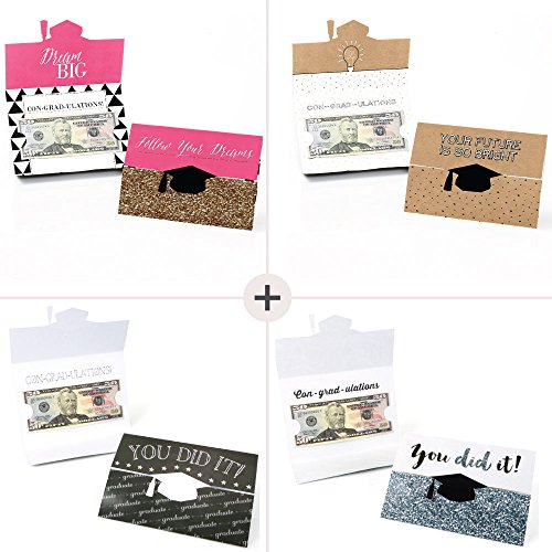 Assorted Graduation Cards - Graduation Party Money Holder Cards - Set of 8 Photo #3