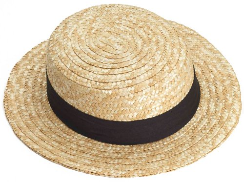 Amish Hat (Straw Skimmer Hat - Adult Std.)