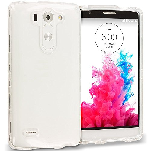 LG G3 Mini / G3 Beat / G3 Vigor / G3S Soft Slim Skin TPU Gel Case, LUVSS Crystal Ultra Thin Flexible Bumper, Perfect Fit Transparent Back Cover, Lightweight Silicone Protective Phone Case - Clear