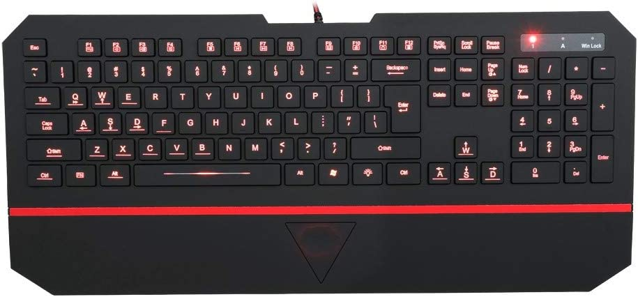 DADUIZHANG Profession Game Mechanical Rainbow Led Backlit Water-Proof Gaming Keyboard with 104 Keys Yellow