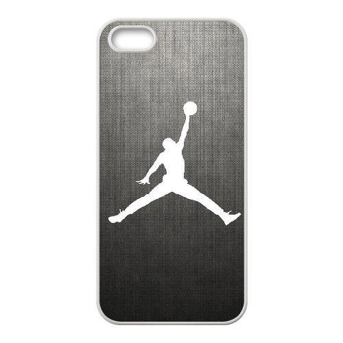 R2P93 Michael Jordan Logo T1D8PD coque iPhone 5 5s cellulaire cas de téléphone couvercle coque blanche WY1FIB5YL