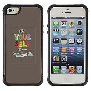 Suave TPU GEL Carcasa Funda Silicona Blando Estuche Caso de protección (para) Apple Iphone 5 / 5S / CECELL Phone case / / Yourself Quote Text Motivational /