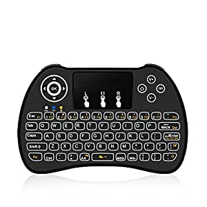 updated h9 2 4ghz mini wireless keyboard with touchpad mouse game handle for. Black Bedroom Furniture Sets. Home Design Ideas
