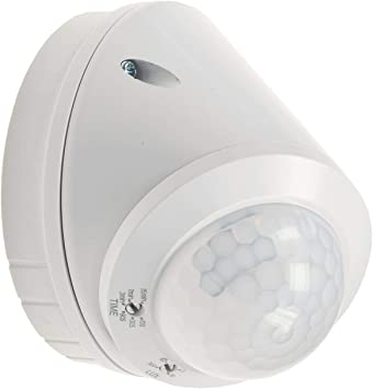 Detector de movimiento para techo, sensor de movimiento 360°, LED adecuado de 1 a 8 m, detector ajustable, color blanco: Amazon.es: Iluminación