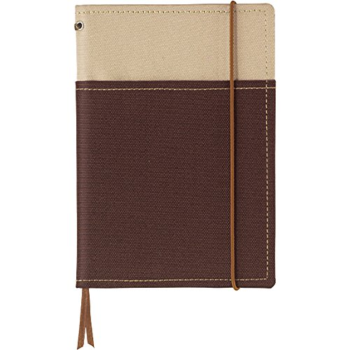 "Kokuyo Systemic Refillable Notebook Cover - A6 (4.1"" X 5.8"") - Khaki / Brown"