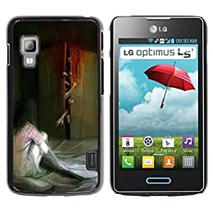 iKiki Tech / Estuche rígido - Monster Zombie Scary Painting - LG Optimus L5 II Dual E455 E460