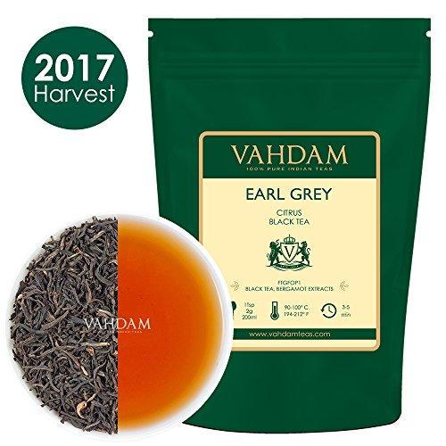 Imperial Earl Grey Tea Leaves (150+ Cups) - 100% Natural Bergamot Oil blended with Garden Fresh Black Tea, Floral & Citrusy, 12-ounce Bag, Garden Fresh Earl Grey Tea Loose Leaf