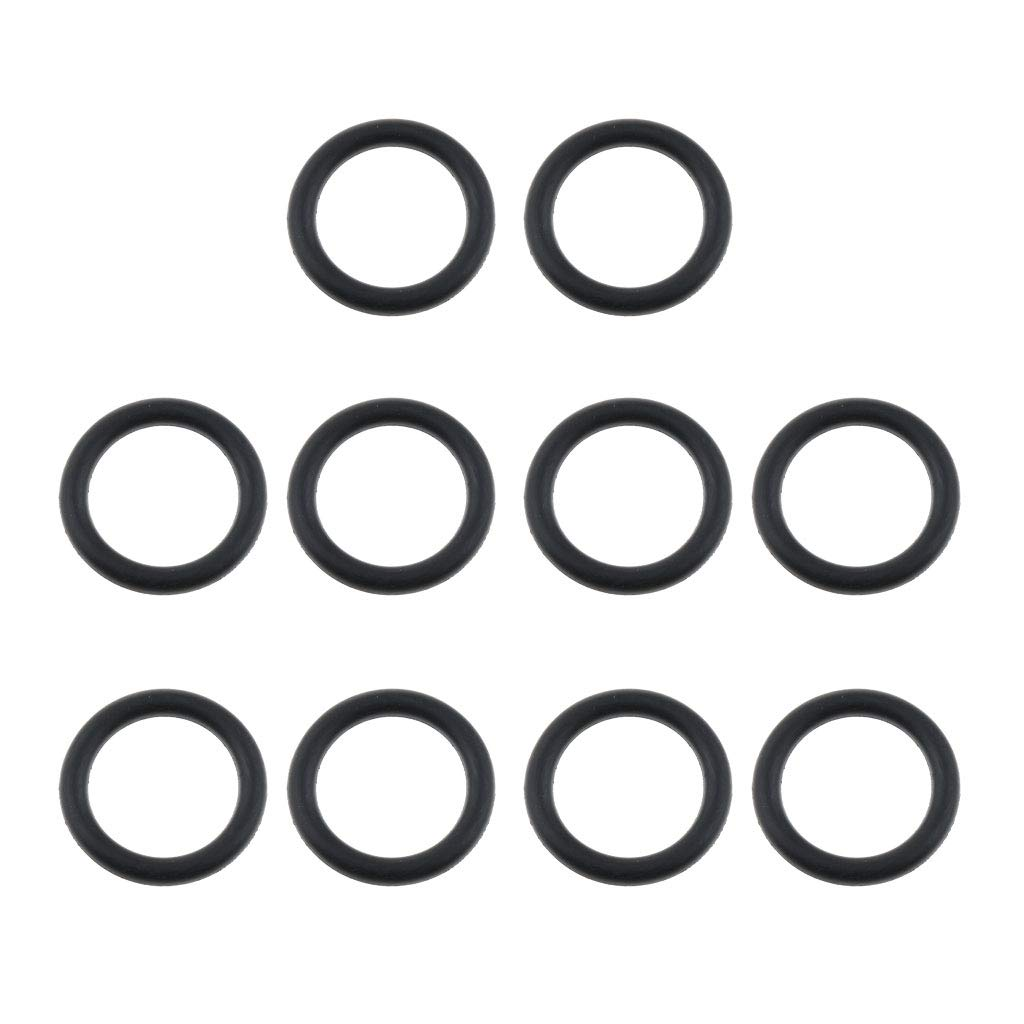 Baosity 10 Pack 18mm Replacement Silicone Rubber O Ring Seals for GoPro Hero Action Camera Diving Ball Head Accessory
