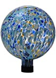Russco III GD137111 Glass Gazing Ball, 10'', Blue Spots
