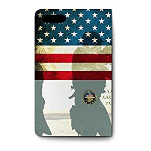 Leather Folio Phone Case For Apple iPhone 5 Leather Folio - Navy Seals USA Stand Designer
