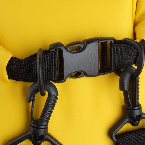 Cool&D 25L Wasserdicht Rucksack Trockentasche Trockenbeutel Outdoor Stausack Aufbewahrungstasche Schützt Telefon Kamera Kleidung vor Wasser, Sand, Staub und Schmutz Schwarz