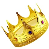 ifavor123 Gold Plastic Royal King Queen Crown (1)