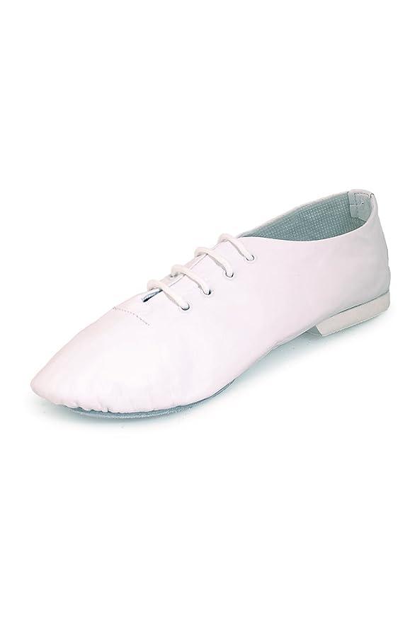 Starlite - Zapatillas de danza de cuero para mujer, color blanco, talla 3 UK