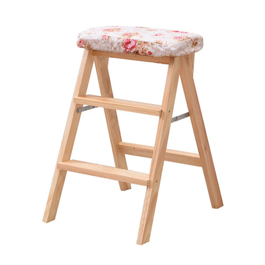 TH ステップのはしごの折り畳みのスツール家庭用の木製のスツール多機能のスツール階段のスツルポータブルキッチンステップスツールのログの色42 * 49 * 63cm (色 : Style-4) B07DWMCVHC Style-4 Style-4