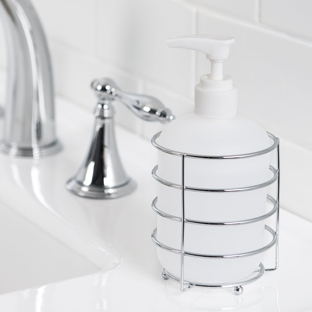 Allure Home Creations Wireware 5-Piece Bathroom Accessory Set - 1 Lotion Pump, 1Toothbrush Holder,1 Soap Dish,1 Tumbler and 1 Wastebasket by Allure Home Creations (Image #4)