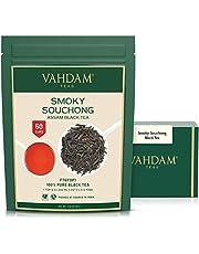 VAHDAM, Smoky Assam Souchong Black Tea (50 Cups)   Unique Smoky FLAVOURY Assam Tea   Rich & MALTY Black Tea Loose Leaf   Smoky & Delicious Black Tea Leaves   3.53oz