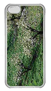 Customized iphone 5C PC Transparent Case - Three Blossom Trees Personalized Cover