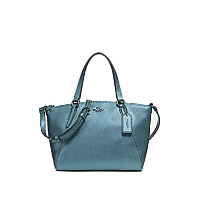 7dd87a3e851f Amazon.com  Coach Pebble Leather Mini Kelsey Satchel Crossbody Handbag  (Metallic Pool)  Shoes