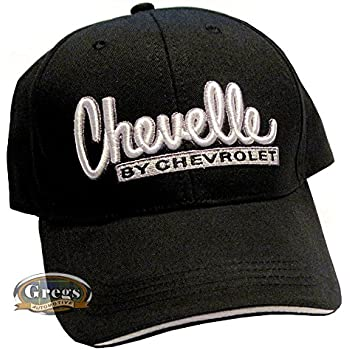 b8da98b0cfb5c3 Gregs Automotive Chevy Chevelle Bowtie Hat Cap Black/White - Bundle with  Driving Style Decal