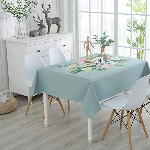 Picnic Home Decoration High-Grade Printed Thick Cotton and Linen Tablecloth 110110Cm,Great for Buffet Table, Parties, Holiday Dinner ()