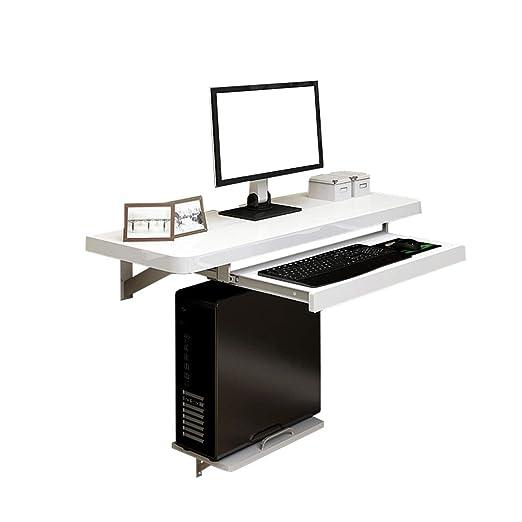 Zbzz Mesa suspendida Mesa de Escritorio de computadora Mesa de ...